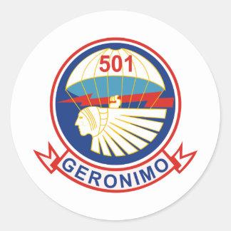 501st Parachute Infantry Regiment (PIR) Insignia Classic Round Sticker