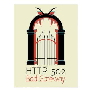 502 Bad Gateway Postcard