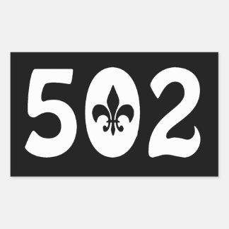 502 PEGATINA RECTANGULAR