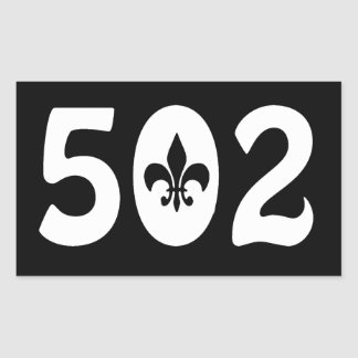 502 RECTANGULAR STICKER