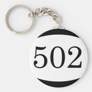 502nd Airborne Basic Round Button Keychain