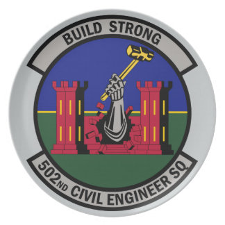 502nd Civil Engineer Squadron - Build Strong Plate