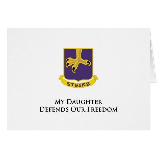 502nd PIR-My Daughter Defends Our Freedom Card