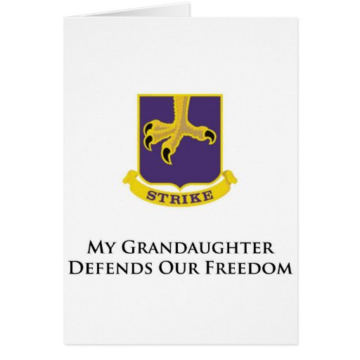 502nd PIR- My Granddaughter Defends Our Freedom Greeting Card