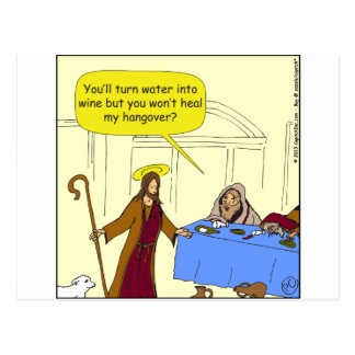 504 Jesus hangover cartoon Postcard