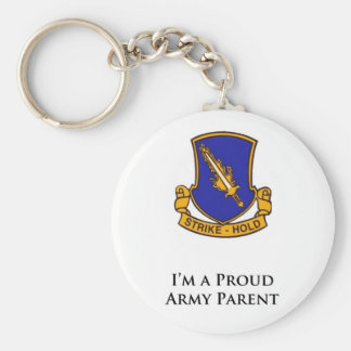 504th PIR- I'm a Proud Army Parent Basic Round Button Keychain