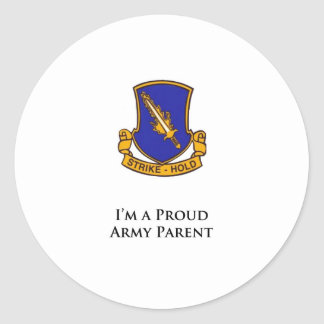 504th PIR- I'm a Proud Army Parent Classic Round Sticker