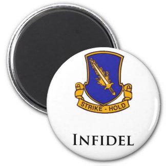 504th PIR- Infidel 2 Inch Round Magnet