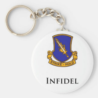 504th PIR- Infidel Basic Round Button Keychain
