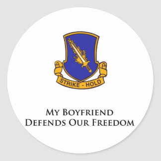 504th PIR- My Boyfriend Defends Our Freedom Sticker