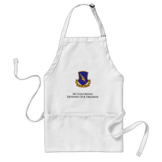 504th PIR- My Girlfriend Defends Our Freedom Adult Apron