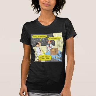 505 cat in box physics cartoon tee shirts