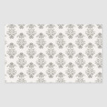 506_fancy-gray-paper LIGHT GREY GRAY SCROLL PATTER Rectangle Stickers