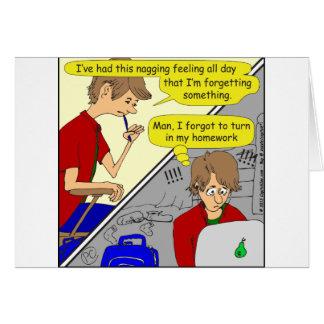 506 forgot homework cartoon card