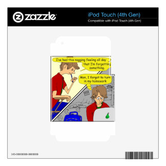 506 forgot homework cartoon skin for iPod touch 4G