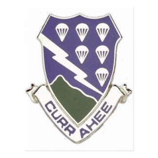 506th Infantry Crest Postcard
