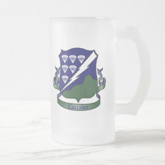 506th Infantry Regiment - 101st Airborne Division Frosted Glass Beer Mug