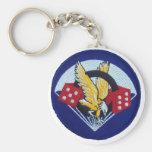 506th Parachute Infantry Regiment Basic Round Button Keychain