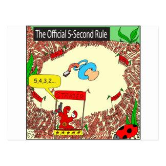 507 5-second rule cartoon postcard
