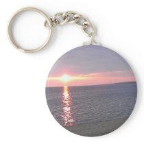 507 sunset lake beach keychain