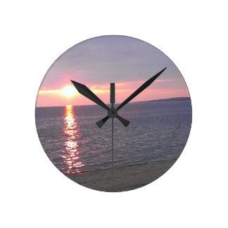 507 sunset lake beach round clock