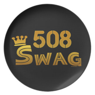 508 Area Code Swag Plate
