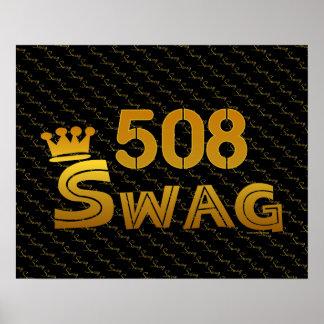 508 Area Code Swag Print