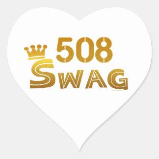 508 Massachusetts Swag Heart Sticker
