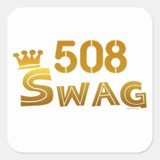 508 Massachusetts Swag Square Sticker