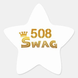 508 Massachusetts Swag Star Sticker