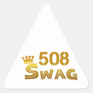 508 Massachusetts Swag Triangle Sticker