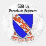 508TH FURIA DEL CIELO, 508 th, regimiento del Pegatinas Redondas
