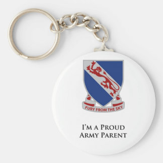 508th PIR- I'm a Proud Army Parent Basic Round Button Keychain