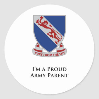508th PIR- I'm a Proud Army Parent Classic Round Sticker