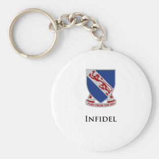 508th PIR- Infidel Basic Round Button Keychain