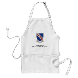 508th PIR My Dad and Brother Defend our Freedom Adult Apron