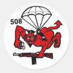 508th PIR Pegatina Redonda