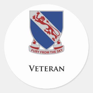 508th PIR- Veteran Round Stickers