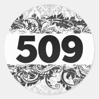 509 PEGATINA REDONDA