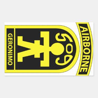 509o Regimiento de infantería del paracaídas (PIR) Pegatina Rectangular