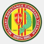 509o RRG 3 - ASA Vietnam Pegatina Redonda
