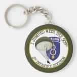 509th Airborne [8th ID] Basic Round Button Keychain