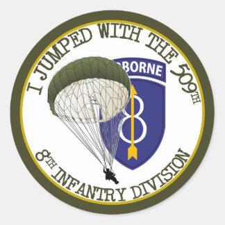 509th Airborne [8th ID] Round Sticker