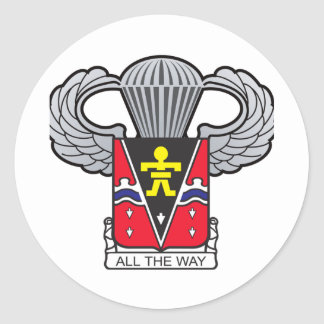 509th Airborne with Airborne Wings 2 Classic Round Sticker