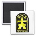 509th Geronimo 2 Inch Square Magnet