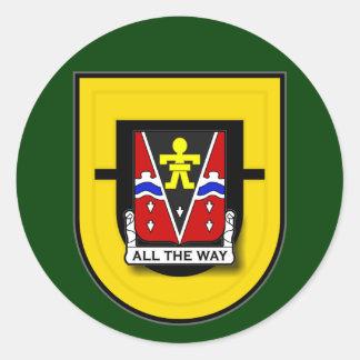 509th Infantry Regiment - 1st Battalion Flash Classic Round Sticker