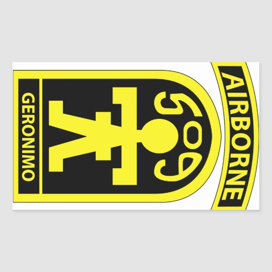 509th parachute infantry regiment pir geronimo rectangular sticker