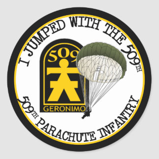 509th PIR Classic Round Sticker