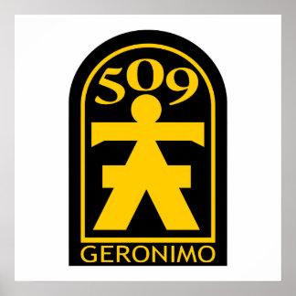 509th PIR Geronimo Patch Poster