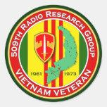 509th RRG 2 - ASA Vietnam Classic Round Sticker